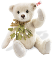 click to see Steiff  Misletoe Teddy Bear - Made From The Finest Alpaca in detail