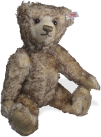 click to see Steiff  Ben Tipped Mohair Teddy Bear in detail