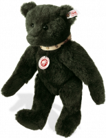 click to see Steiff Alpaca Dark Green Classic With Studded Leather Collar in detail