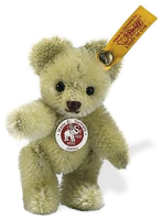click to see Steiff  Green Mini Teddy Bear in detail