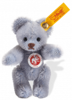 click to see Steiff  Mini Blue Teddy Bear in detail