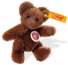 click to see Steiff  Brown Mini Teddy Bear - 8cms in detail