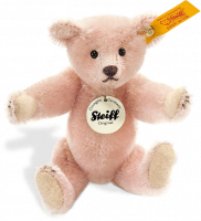 click to see Steiff  1908 Replica Pink Miniature Teddy in detail