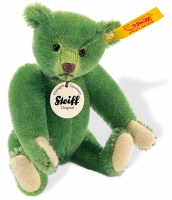 click to see Steiff  1908 Replica Green Miniature Teddy in detail