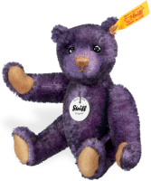 click to see Steiff  Classic Aubergine Teddy Bear in detail
