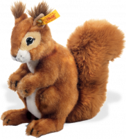 click to see Steiff  Niki Plush Squirrel in detail