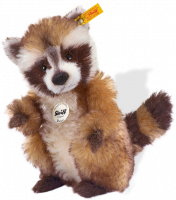 click to see Steiff  Rocco Racoon in detail