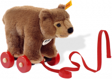 click to see Steiff  Pull-along Animal Urs Bear in detail