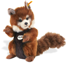click to see Steiff  Mohair Bendy Red Panda in detail