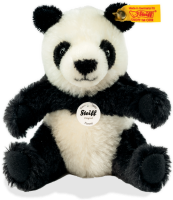 click to see Steiff  Pummy Panda In Sitting Position in detail