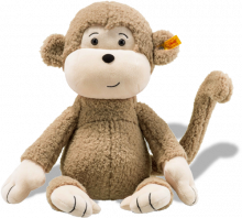 click to see Steiff Brownie Monkey Cuddly Friend (40cm) in detail