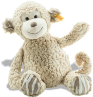 click to see Steiff  Cuddly Bingo Monkey in detail