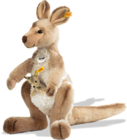 click to see Steiff  Kango Kangaroo With Baby in detail