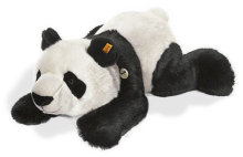 click to see Steiff  Lying Manschli Panda - 45cms - Soft And Cuddly in detail