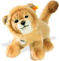 click to see Steiff  Leo Baby Dangling Lion in detail