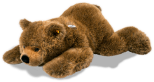 click to see Steiff  Lying Urs Bear in detail