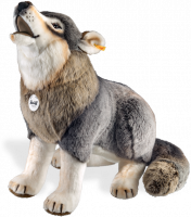click to see Steiff  Snorry Large Wolf in detail