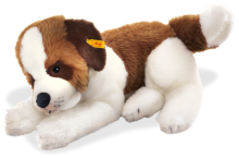 click to see Steiff Benny Saint Bernhard Lying Dog in detail