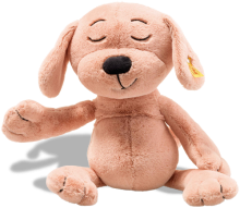 click to see Steiff Caramel Dog Cuddly Friend in detail