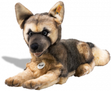 click to see Steiff  Mike Alsation Dog in detail