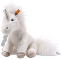 click to see Steiff  Cuddle Floppy Unica Unicorn in detail