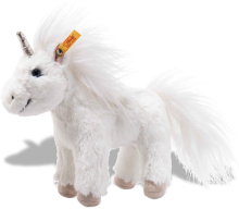 click to see Steiff  Cuddly Standing Unica Unicorn in detail