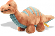 click to see Steiff  Soft Cuddly Friends Bronko Brontosaurus Dinosaur in detail