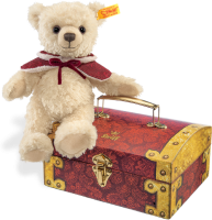 click to see Steiff  Clara Teddy Bear In Treasure Chest in detail
