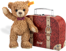 click to see Steiff  Carlo Teddy Bear In Suitcase in detail