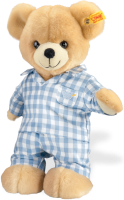 click to see Steiff  Luis Teddy Bear In Pyjamas in detail