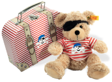 click to see Steiff  Fynn With Pirate Suitcase in detail