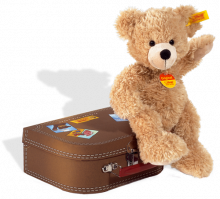 click to see Steiff  Fynn Teddy Bear In Suitcase in detail