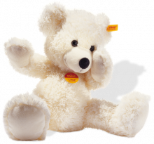 click to see Steiff  Warm White Lotte Teddy Bear in detail