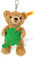 click to see Steiff  Lucky Charm Teddy Keyring in detail