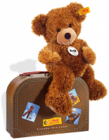 click to see Steiff Hannes Teddy Bear In Suitcase in detail
