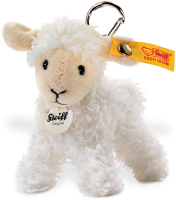 click to see Steiff  Lamb Teddy Bear Keyring in detail