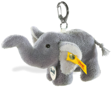 click to see Steiff  Elephant Teddy Bear Keyring in detail