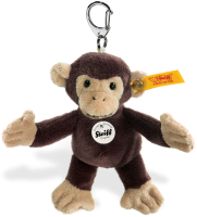 click to see Steiff  Monkey Teddy Bear Keyring in detail