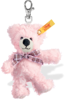 click to see Steiff  Pink Keyring in detail
