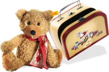 click to see Steiff  Charly Dangling Teddy In Suitcase in detail