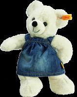 click to see Steiff  Lara Teddy Bear In Denim in detail
