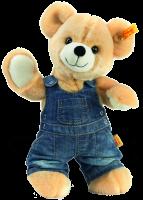 click to see Steiff  Luis Teddy Bear In Denim in detail