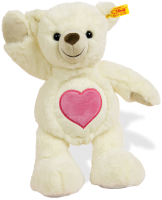 click to see Steiff  Heart Bear in detail