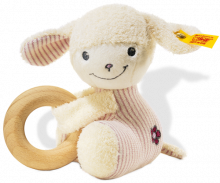 click to see Steiff  Baby Lamb Lenchen Grip Toy in detail