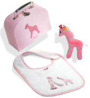 click to see Steiff  Little Circus Giraffe Gift Set in detail