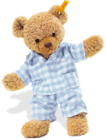 click to see Steiff  Blue Sleep Well Teddy Bear in detail