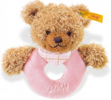 click to see Steiff  Sleep Well Bear Grip Toy With Rattle in detail