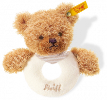 click to see Steiff  Sleep Well Bear Grip Toy With Rattle (beige) in detail