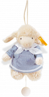 click to see Steiff  Sweet Dreams Lamb Music Box (blue) in detail