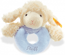 click to see Steiff  Sweet Dreams Lamb Grip Toy With Rattle in detail